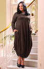 Платье оверсайз коричневого цвета No3|интернет-магазин vvlen.com