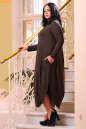 Платье оверсайз коричневого цвета No4|интернет-магазин vvlen.com