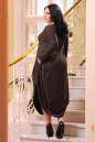 Платье оверсайз коричневого цвета No5|интернет-магазин vvlen.com