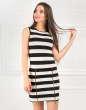 Повседневное платье майка полоски черной цвета No0|интернет-магазин vvlen.com