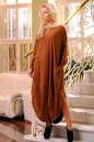 Платье оверсайз светло-коричневого цвета|интернет-магазин vvlen.com