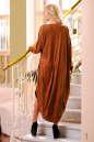 Платье оверсайз светло-коричневого цвета No2|интернет-магазин vvlen.com