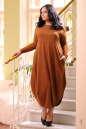Платье оверсайз светло-коричневого цвета No3|интернет-магазин vvlen.com