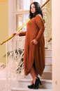 Платье оверсайз светло-коричневого цвета No4|интернет-магазин vvlen.com