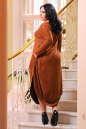 Платье оверсайз светло-коричневого цвета No5|интернет-магазин vvlen.com