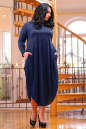 Платье оверсайз синего в горох цвета No2|интернет-магазин vvlen.com