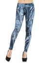Женские лосины голубого с белым цвета No0|интернет-магазин vvlen.com