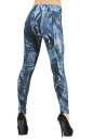 Женские лосины голубого с белым цвета No2|интернет-магазин vvlen.com
