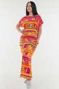 Летнее платье балахон оранжевого цвета No1|интернет-магазин vvlen.com