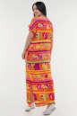Летнее платье балахон оранжевого цвета No2|интернет-магазин vvlen.com