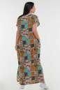Летнее платье балахон бирюзового с горчичным цвета it 100 No2|интернет-магазин vvlen.com