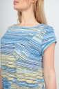 Летнее платье футляр желтого с голубым цвета No5|интернет-магазин vvlen.com