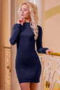 Повседневное платье футляр темно-синего цвета 2427.86|интернет-магазин vvlen.com