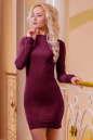 Повседневное платье футляр бордового цвета|интернет-магазин vvlen.com