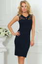 Повседневное платье футляр темно-синего цвета 1964-1.47 No0|интернет-магазин vvlen.com