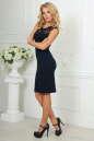 Повседневное платье футляр темно-синего цвета 1964-1.47 No2|интернет-магазин vvlen.com