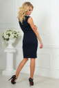 Повседневное платье футляр темно-синего цвета 1964-1.47 No3|интернет-магазин vvlen.com