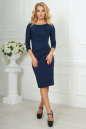 Офисное платье футляр темно-синего цвета 1409-1.47 No1 интернет-магазин vvlen.com