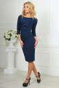 Офисное платье футляр темно-синего цвета 1409-1.47 No2 интернет-магазин vvlen.com