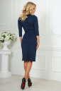 Офисное платье футляр темно-синего цвета 1409-1.47 No3 интернет-магазин vvlen.com