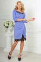 Коктейльное платье футляр сиреневого с черным цвета No1|интернет-магазин vvlen.com