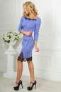 Коктейльное платье футляр сиреневого с черным цвета No2|интернет-магазин vvlen.com
