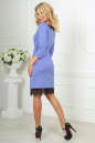 Коктейльное платье футляр сиреневого с черным цвета No3|интернет-магазин vvlen.com