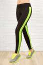 Лосины для фитнеса черного с зеленым цвета 2310-1.67 No0|интернет-магазин vvlen.com