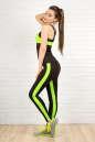 Лосины для фитнеса черного с зеленым цвета 2310-1.67 No2|интернет-магазин vvlen.com