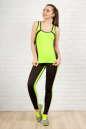 Лосины для фитнеса черного с зеленым цвета 2310-1.67 No4|интернет-магазин vvlen.com