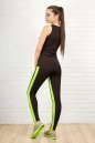 Лосины для фитнеса черного с зеленым цвета 2310-1.67 No6|интернет-магазин vvlen.com