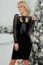 Коктейльное платье футляр черного цвета 2460.26 No0|интернет-магазин vvlen.com