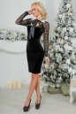 Коктейльное платье футляр черного цвета 2460.26 No2|интернет-магазин vvlen.com
