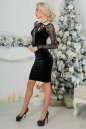 Коктейльное платье футляр черного цвета 2460.26 No3|интернет-магазин vvlen.com