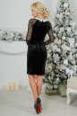 Коктейльное платье футляр черного цвета 2460.26 No4|интернет-магазин vvlen.com
