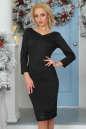 Коктейльное платье футляр черного цвета 2447.47 No1|интернет-магазин vvlen.com