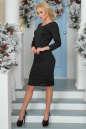 Коктейльное платье футляр черного цвета 2447.47 No2|интернет-магазин vvlen.com