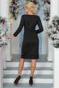 Коктейльное платье футляр черного цвета 2447.47 No3|интернет-магазин vvlen.com