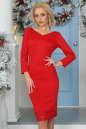 Коктейльное платье футляр красного цвета 2447.47|интернет-магазин vvlen.com