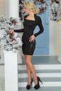 Коктейльное платье футляр черного цвета 2463.5 No2|интернет-магазин vvlen.com