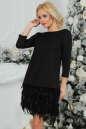 Коктейльное платье футляр черного цвета 2466.41 No0|интернет-магазин vvlen.com