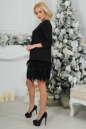 Коктейльное платье футляр черного цвета 2466.41 No2|интернет-магазин vvlen.com