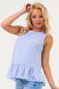 Блуза голубой полоски цвета|интернет-магазин vvlen.com