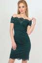 Летнее платье футляр темно-зеленого цвета 2208-1.12|интернет-магазин vvlen.com