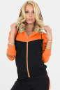 Спортивная кофта черного с оранжевым цвета No0|интернет-магазин vvlen.com
