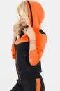 Спортивная кофта черного с оранжевым цвета No2|интернет-магазин vvlen.com