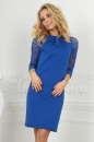 Повседневное платье футляр электрика цвета|интернет-магазин vvlen.com