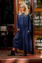Платье оверсайз синего цвета|интернет-магазин vvlen.com