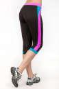 Лосины для фитнеса черного с розовым цвета No2|интернет-магазин vvlen.com