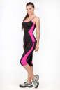 Лосины для фитнеса черного с розовым цвета No5|интернет-магазин vvlen.com